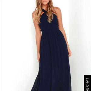 Navy blue maxi dress Lulus